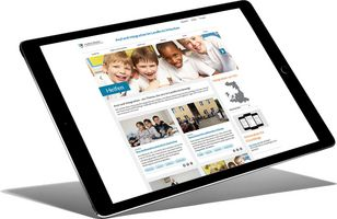 "Foto: Website ""Asyl und Integration"" auf Tablet-PC"