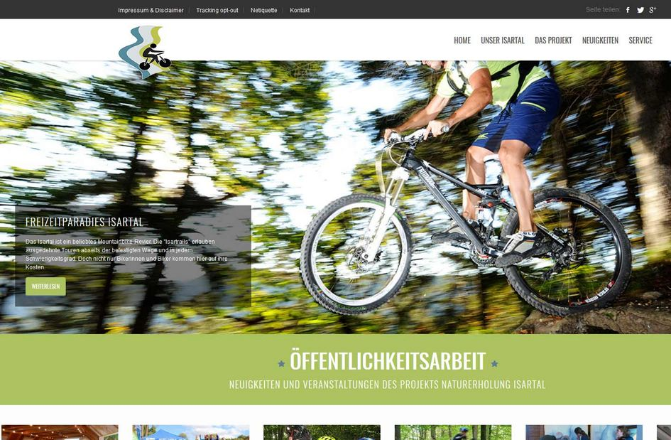 "Foto: Screenshot der Website ""Biken im Isartal"""