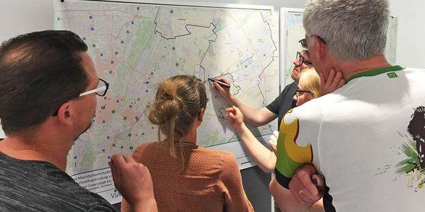In drei Öffentlichkeitsveranstaltungen konnten die Bürgerinnen und Bürger ihre Anregungen, Ideen und Wünsche für weitere Radschnellverbindungen im Landkreis München einbringen