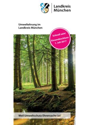 Cover: Umweltehrung 2017 im Landkreis München