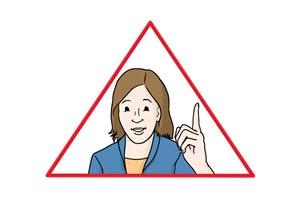 Bild: Achtung-Zeichen