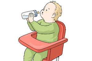 Bild: Baby mit Flasche