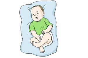 Foto: Baby auf Kissen