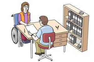 Bild: Zwei Menschen im Büro