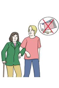 Bild: Ein Mann stützt eine Frau