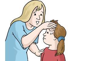 Bild: Kind mit Fieber