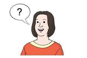 Bild: Frau mit Fragen