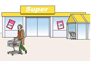 Bild: Supermarkt