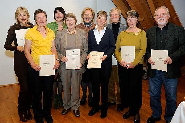 Foto: Die Preisträger der Umweltehrung 2012