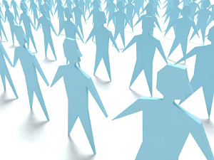 Grafik: Menschengrupppe