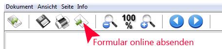 Screenshot: Formular online versenden