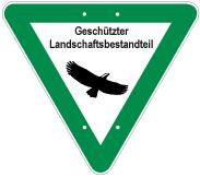 Schild: Geschützter Landschaftsbestandteil