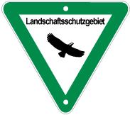 Schild: Landschaftsschutzgebiet