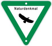 Schild: Naturdenkmal