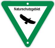 Schild: Naturschutzgebiet