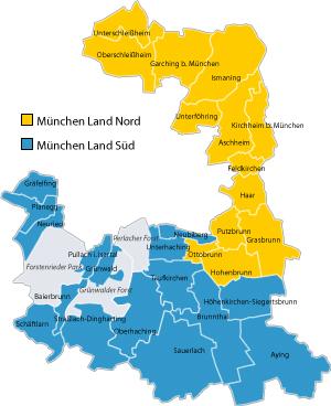 Grafik: Einteilung der Stimmkreise in Nord und Süd