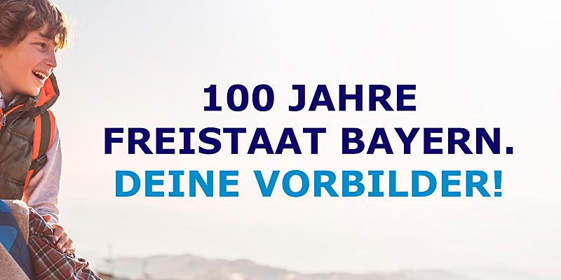 """Foto: Kampagnenbild """"100 Jahre Freistaat Bayern. Deine Vorbilder!"""""""
