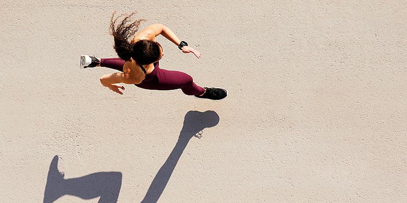 Foto: Läuferin von oben
