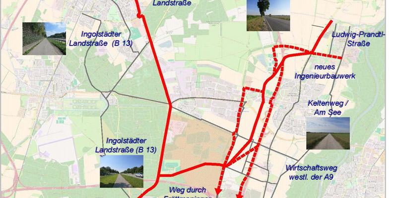 Grafik: Radschnellweg-Variante