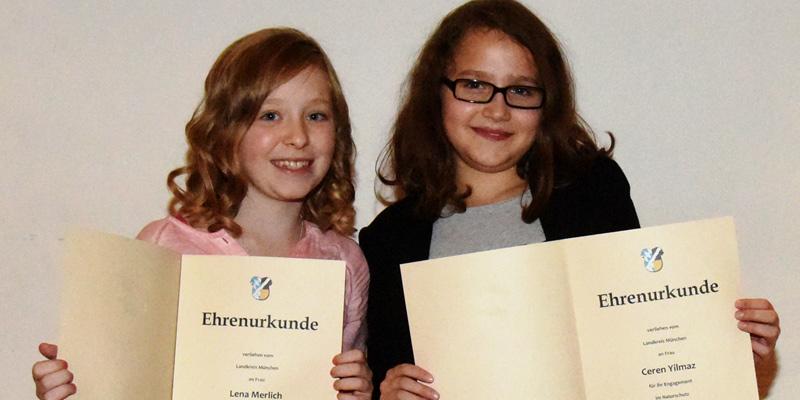 Foto: Zeigten, dass Umweltschutz keine Frage des Alters ist: die Freundinnen Lena Merlich und Ceren Yilmaz aus Kirchheim.