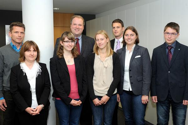 Foto: Beamtenanwärter am Landratsamt München im Oktober 2014