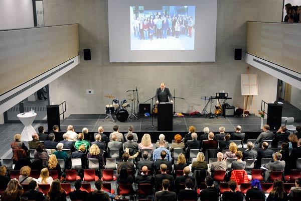 Foto: Einweihung der Oberschule, Ansprache Landrat Göbel