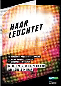 Poster: Plakat Haar leuchtet