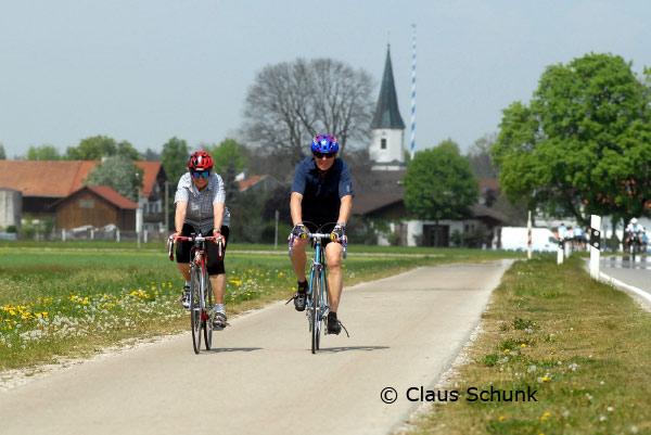 Radwege in der Gemeinde Brunnthal
