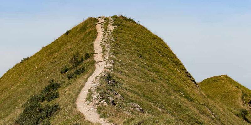 Foto: Weg auf einem Berg